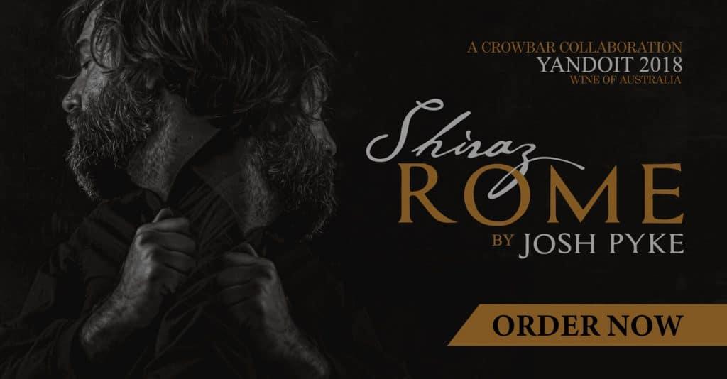 Crowbar Wine Josh Pyke Collab Shiraz Rome Banner