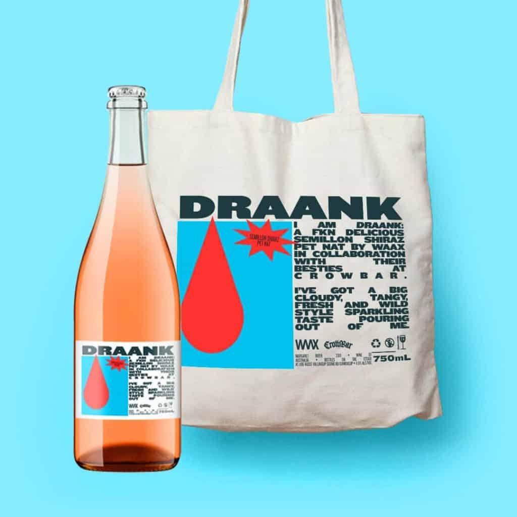 Waax Draank Crowbar Pet Nat Wine and Tote bag 1