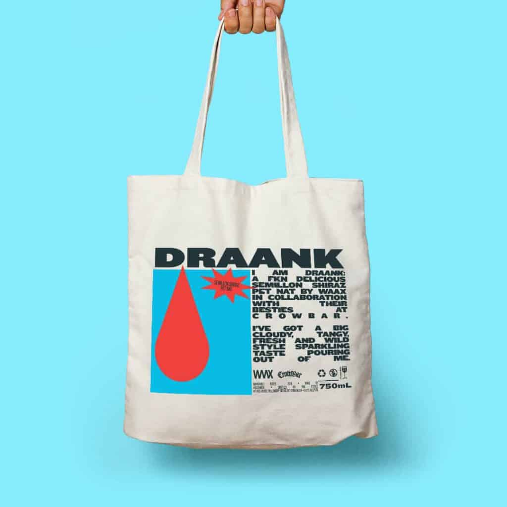 Waax Draank Crowbar Tote only